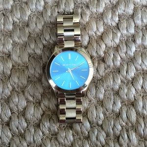 Michael Kors Stainless Steel watch with blue face